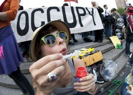Движение Occupy Wall Street в Нью-Йорке